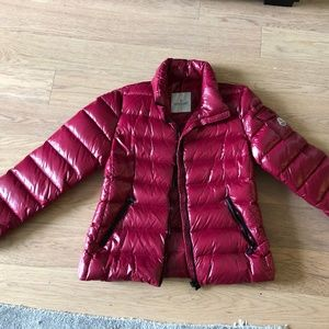 Moncler Down Puffer Coat Wine color